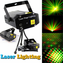 Portable Mini LED R&G Laser Projector Stage Lighting Effect Adjustment DJ Disco KTV Club Party Wedding Light