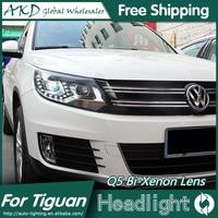 AKD Car Styling For VW Tiguan Headlights 2013 New Tiguan LED Headlight LED DRL Bi Xenon