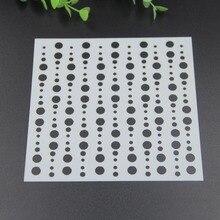 1pcs/lot Round Layering Stencils for DIY Scrapbooking/photo album Decorative Embossing DIY Paper Cards Crafts