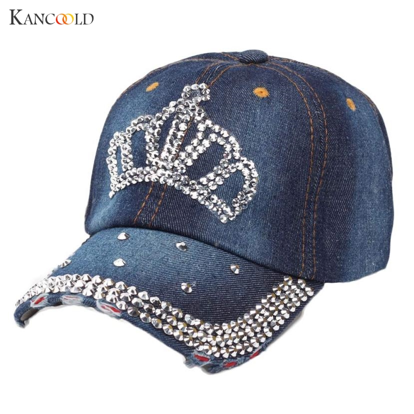 New Denim Baseball Caps For Women Snapback Caps Brand Sunwear Hats For Woman Bone Jeans Denim Blank Gorras Casquette Crown 2017