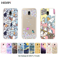 "For Samsung J3 2017 J3(7) Soft Silicone Phone Case Fashion Printed Cover For Galaxy J3 2017 J330F SM-J330F DS 5.0"" Case(China)"