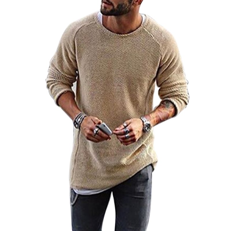 HEFLASHOR 2019 Autumn Knitting Sweater Men Fashion Long Sleeve Sweaters Casual Classic Solid Christmas Pullover Male Streetwear