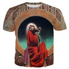 3d Printed grateful dead blues for allah T shirt Men/Women Summer Short Sleeve Tees Tops Unisex Streetwear Tshirt