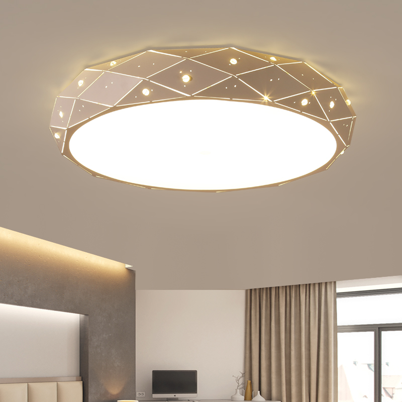 Round Surface mounted Minimalism modern led ceiling chandelier lights for living study room bedroom White AC85-265V Chandelier round cob led ceiling light 30w surface mounted panel lamp luminaria luces black white housing 85v 265v white ce