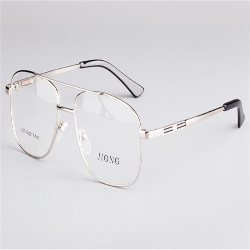 Men's Eyewear Frames Men's Glasses Mongoten Business Men Fashion Full Rim Alloy Large Frame Myopia Eyewear Frame Silver Gold Clear Lens Optical Eyeglasses Goggle Relieving Heat And Thirst.