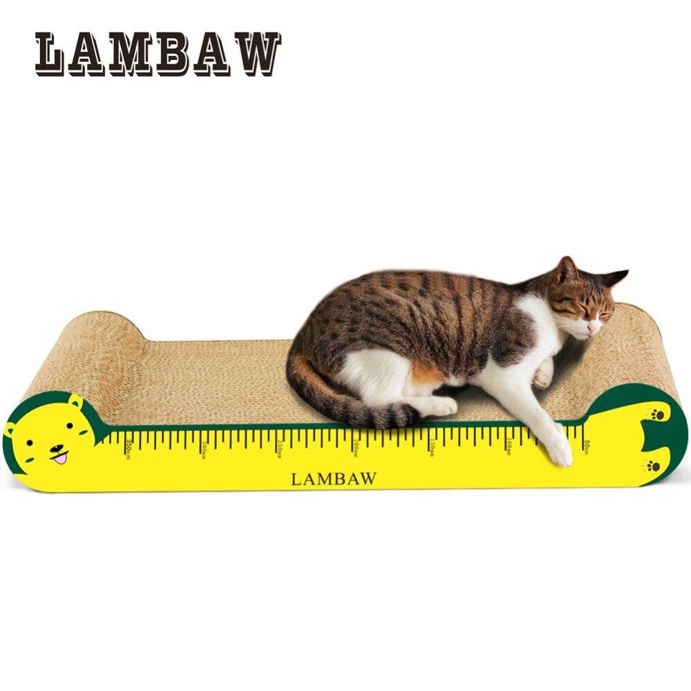 Cartón rascador de gato gobernante diseño sofá papel cartón de alta ...
