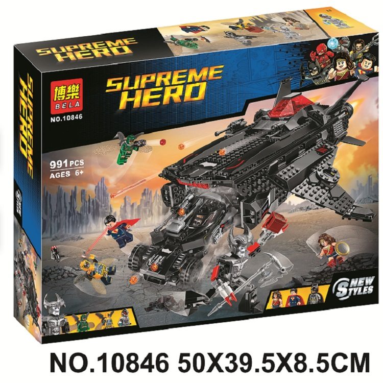 10846 Marvel Avengers DC Super Heroes Batman Flying Fox Batmobile Airlift Attack Building Block Brick Toy