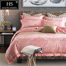 Palace Paisley Pink Design Bedding Jacquard Thread Count 400 Duvet Cover Flat Sheet Pillow Case Egyptian Cotton King Queen Size