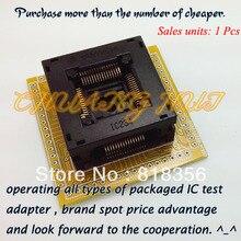 Тест QFP64 гнездо IC234-0644-024 розетка/СК тангаж:0,8 мм Размер:32.2x32.3мм
