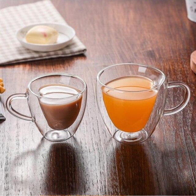 Tasse à café coeur en verre double paroi Cuisine Tasses et Mugs Cocooning.net