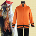 Anime Naruto  Seventh Hokage Hoodies Coat Jacket Uzumaki Naruto Cosplay Costume Casual Uniform Sweatshirt