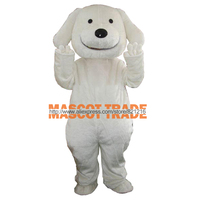 Halloween Cartoon White Dog Christmas Adult Mascot Costume Fancy Dress Outfit Prop Factory Direct