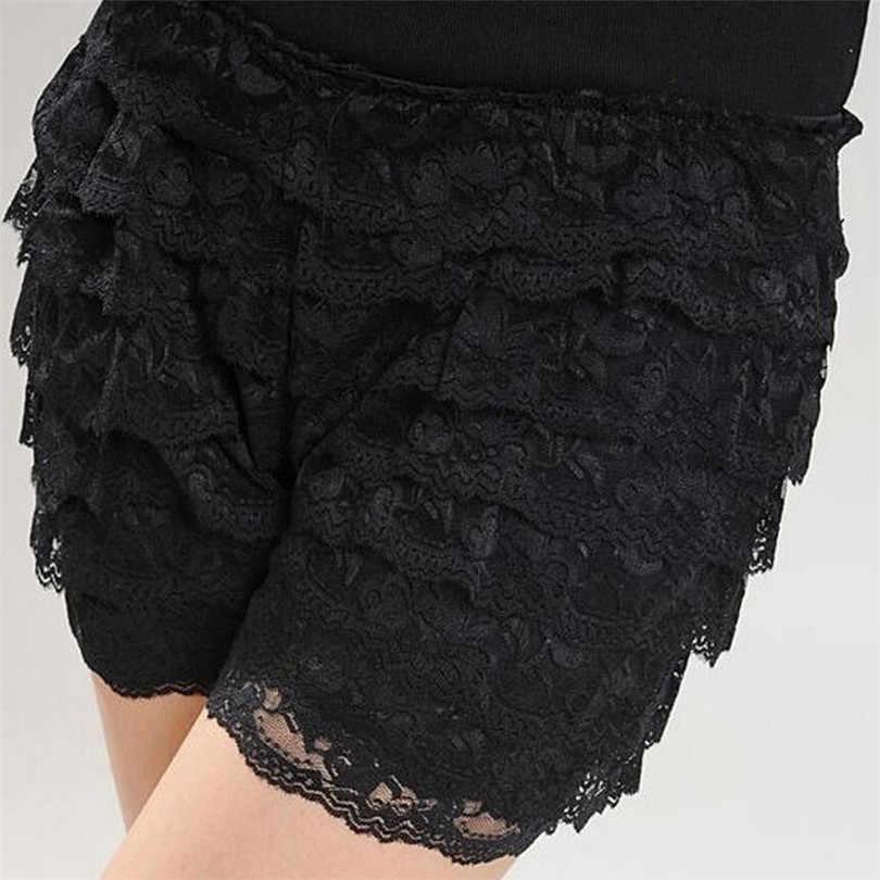 YRRETY Comfortabele Korte Broek Nieuwe Zomer 8 Vloeren Lace Shorts Onder Rok Lace Ondergoed Boxers 1 Pc Shorts 7 Kleuren effen