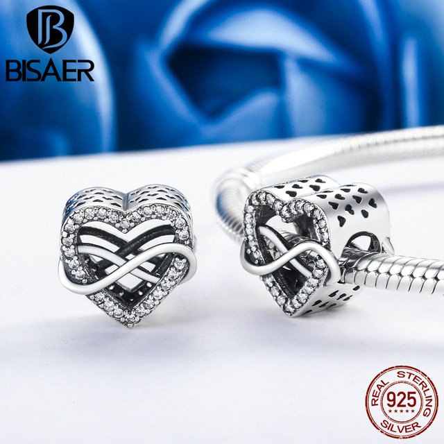 925 Sterling Silver Symbol Of Endless Love Infinite Love Beads Fit