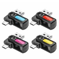 2 in 1 USB OTG Card Reader Micro USB OTG TF/SD Card Memory Cardreader Adapters for Phone Extension Readers Plug and play