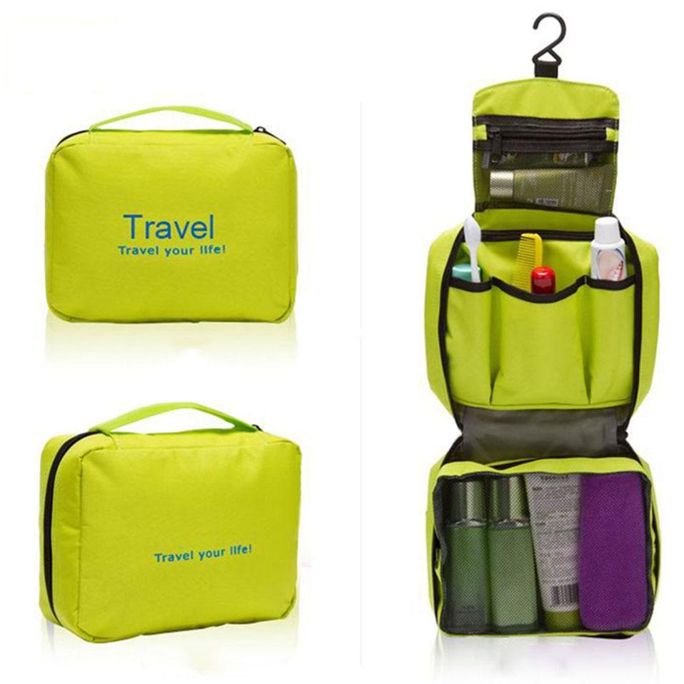 Hanging Travel Cosmetic Bag Women Zipper Make Up Bags Polyester High Capacity Makeup Case handbag Organizer Storage Wash Bag     (5)