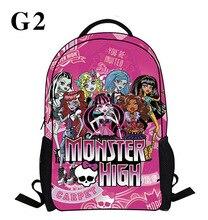 2016 neue Cartoon Monster High Rucksack Kinder Schultasche Student Book Tasche Jungen Kinder Mädchen Taschen Schultasche