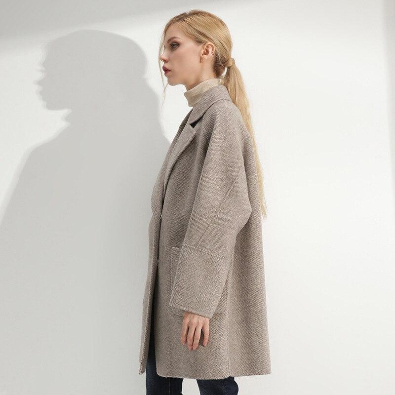 Double X 2018 Femmes La Vêtements Nouveau Face Laine Street Manteau Main À Hiver High longue 1 2 Haut Des Gamme De 3 Mode Élégant XYrOYwax4q