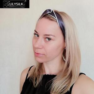 Image 4 - LilySilk di Seta Della Fascia Headwrap Copricapi Donne Accessori Per Capelli Fascia Della Traversa di Modo Alla Moda Elastico Elastico Regolabile Carino