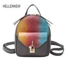 Hellennew 2017 женщин заблокировать мини-сумка multi-функции рюкзак женский корейский сумки на плечо для девочек маленький рюкзак Mochila Escolar