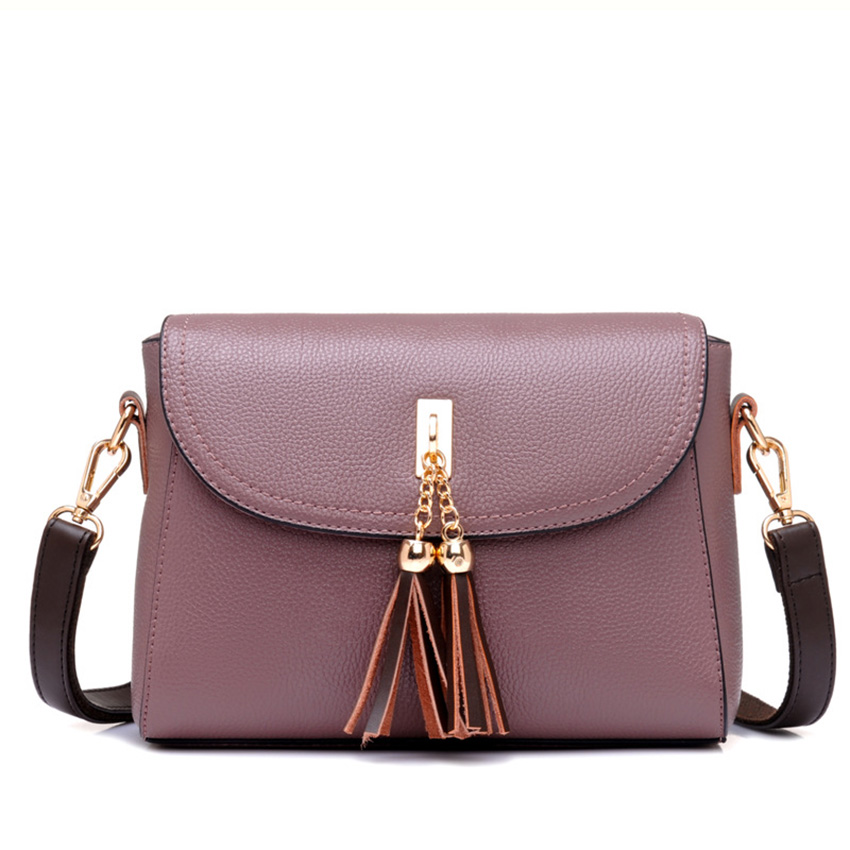 64a1cf1e85 2018 Women top quality tassel messenger bags vintage handbags pure leather  shoulder bag women crossbody bags ZL62-in Crossbody Bags from Luggage   Bags  on ...