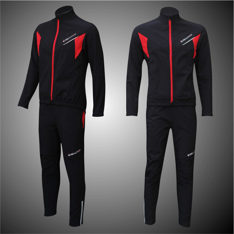 Winter Fleece Cycling Jersey Pants Sets Men Long Sleeves Bicycle Thermal Jacket Men's Cycling Clothes ropa ciclismo Sportswear