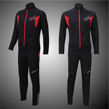 Winter Fleece Cycling Jersey Pants Sets Men Long Sleeves Bicycle Thermal Jacket Men s Cycling Clothes
