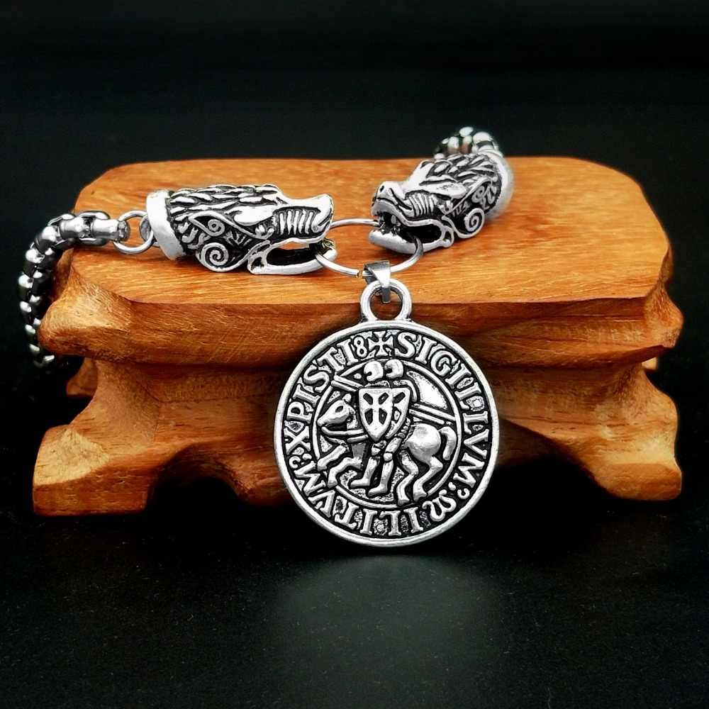 Этнические Рыцари темплар печать ожерелье ювелирные изделия колье Викинг Прямая доставка 1 шт.