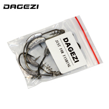 DAGEZI 5size/lot With the lead barbed crank hook Fishing Hook Pesca Fish Hooks Carp Worm hooks 2G/2.5G/3G/5.25G/G7G