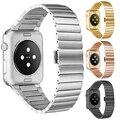 Роскошный ремешок для часов металл ремни Для Apple watch band 42 мм браслет из нержавеющей стали Ссылка 38 мм butterfly петли черный золото Серебро