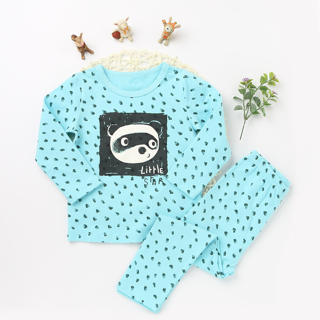 ca22539ed93a Fashion Children s Clothing Sets Girls Pajama Tops and Bottoms Kids ...