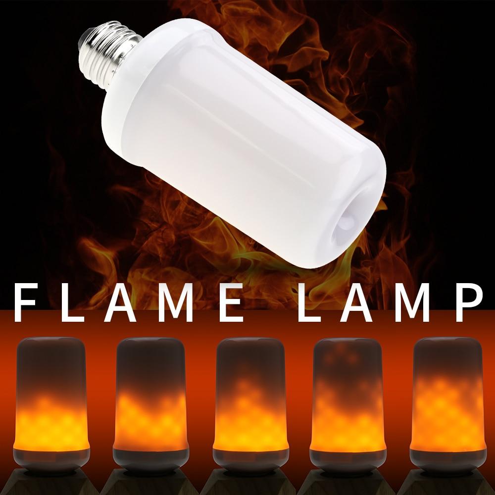 E27 LED Candle Flame Bulb E14 Fire LED Light E26 Flickering LED Flame Effect Light Bulb Creative Decoration Lamp Dynamic Burning in LED Bulbs Tubes from Lights Lighting