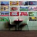22 estilos de logotipo creativo Vintage Metal Placa de coche cerveza placa Bar Pub garaje pared decoración del hogar Retro licencia decorativa Plat 15X30 cm