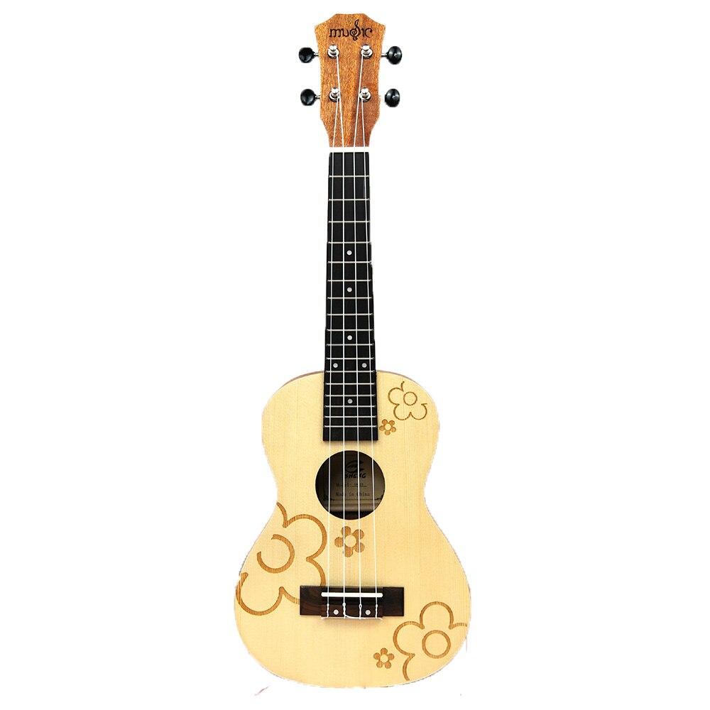 Ukulélé 21 pouces 15 frettes acajou Soprano ukuléles guitare épicéa palissandre 4 cordes guitare hawaïenne Instruments de musique