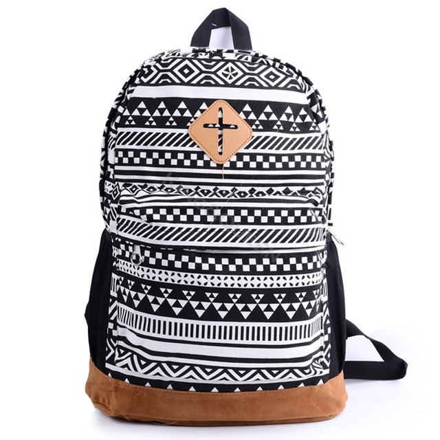 Fashion Women Backpacks Colorful Nationality Pattern School Bags For Women Travel Bags Canvas Women Shoulder Bags 18