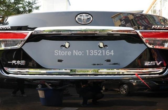 Auto rear door trim,tail trunk sticker for Toyota Reiz 2013 -2015,stainless steel