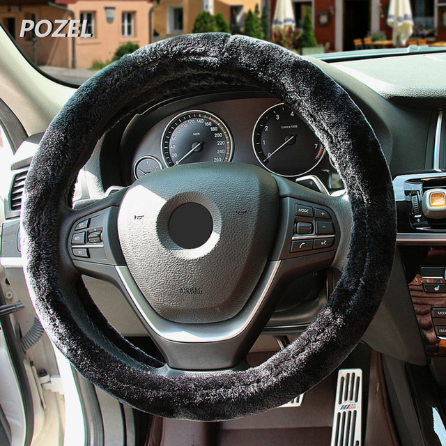 Car Steering Wheel Cover Warm Plush Universal Interior Accessories - Acura rsx steering wheel