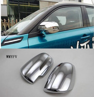 For Suzuki Vitara 2016 2017 2018 2pcs ABS chrome styling decoration stick rear view Rearview Side glass Mirror Cover trim frame