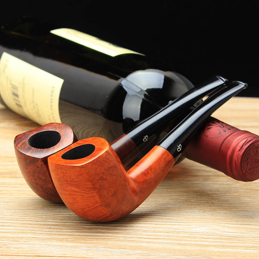 RU NEWBEE Free 10 Cleaning Tools Tobacco Pipe Classic Bent Smoking Pipe 9mm filter Rack Tamper