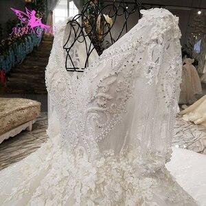 Image 5 - AIJINGYU תוצרת טורקיה מוסלמי כלה שמלת אפריקאי שמלות הטוב ביותר חורף בציר מברשת שמלות רוז יפה שמלות כלה