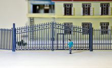 1:150 N Scale  train ho scale railway modeling Model Train Railway Building Fence Wall with Door new approaches in modeling railway crack quantification system