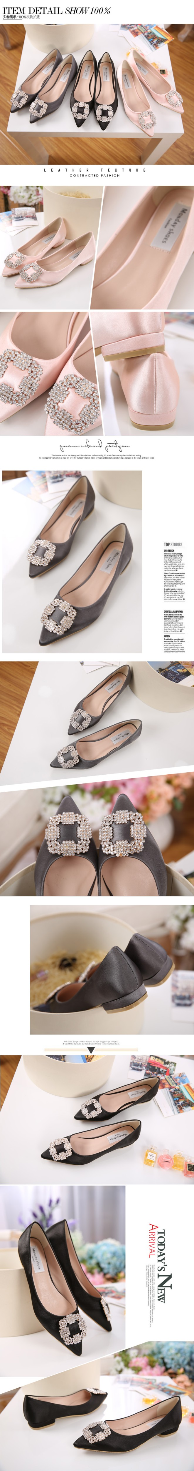 Brand New Elegant Women Flats 2017 Spring Autumn Ladies Shoes Rose ... bf5bc271406a