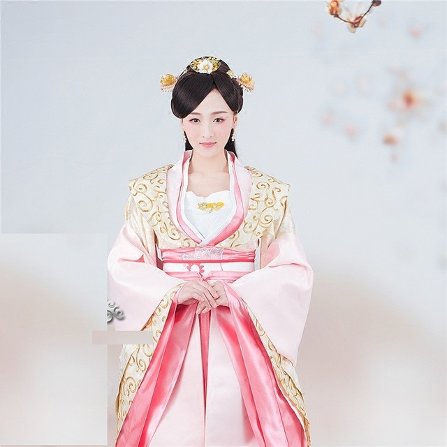 eb5ded645 Qing Wei Yang Gorgeous Empress Pink Costume for TV Play The Princess  WeiYoung Costume Thematic Photography Hanfu
