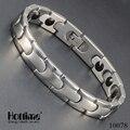 Hottime alta calidad de acero inoxidable 316l brazalete de la pulsera magnética de germanio salud encantos de la cadena de joyería de moda 10078