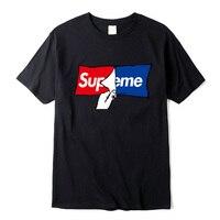 100% хлопок футболка высокого качества модная повседневная supeme Мужская футболка с рисунком Harajuku брендовая одежда футболка уличная смешные ф...