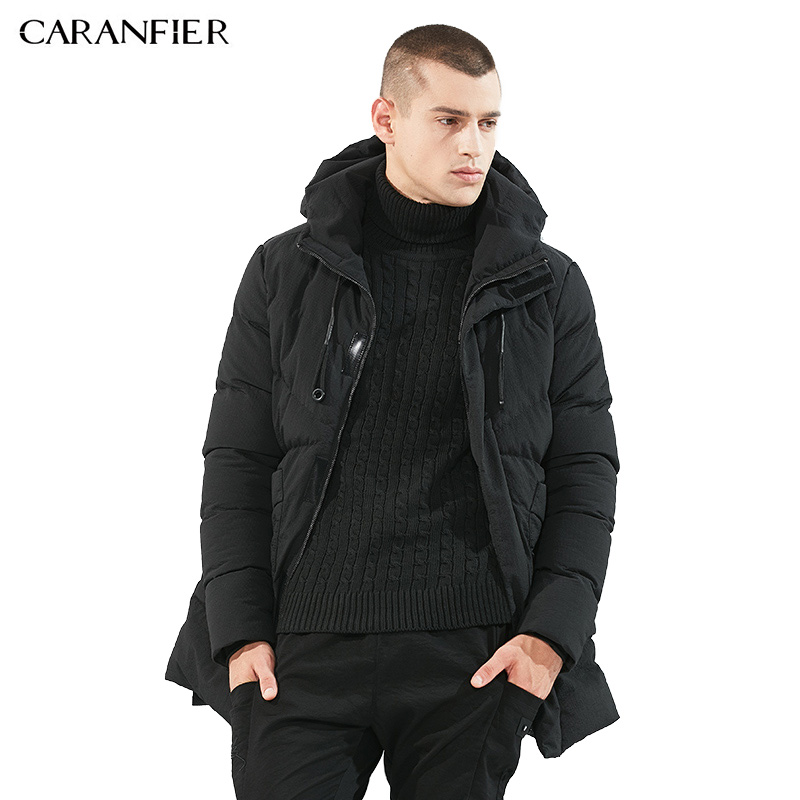 CARANFIER2017 Winter Men Parka Jacket Long Coat Male Thick Cotton-Padded Jacket High Quality Male Fashion Casual Parka Coats