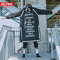 AELFRIC Men Long Coat Summer Fashion Thin Trench Windbreaker Jacket Men Gothic Windproof Overcoat Korean Casual Streetwear JQ06