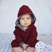 Winter Infant Baby Girls Boys Clothes Set Long Sleeve Hooded Sweatshirt Tops+Pants Outfits Set Brand New Toddler Clothing