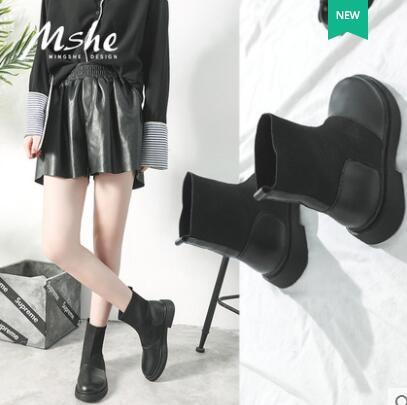 Calcetines Botines Mujer Coreano Tacón 1 Botas Celebridad Y Pu De Zapatos  Alto Invierno Grueso Estudiante ... e7ff3fdb81cc