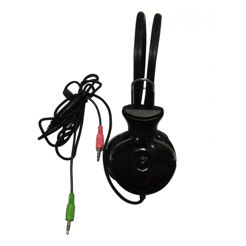 Portable Game Wired Earphone Headphone with Microphone MIC Headset Skype for PC Computer Laptop